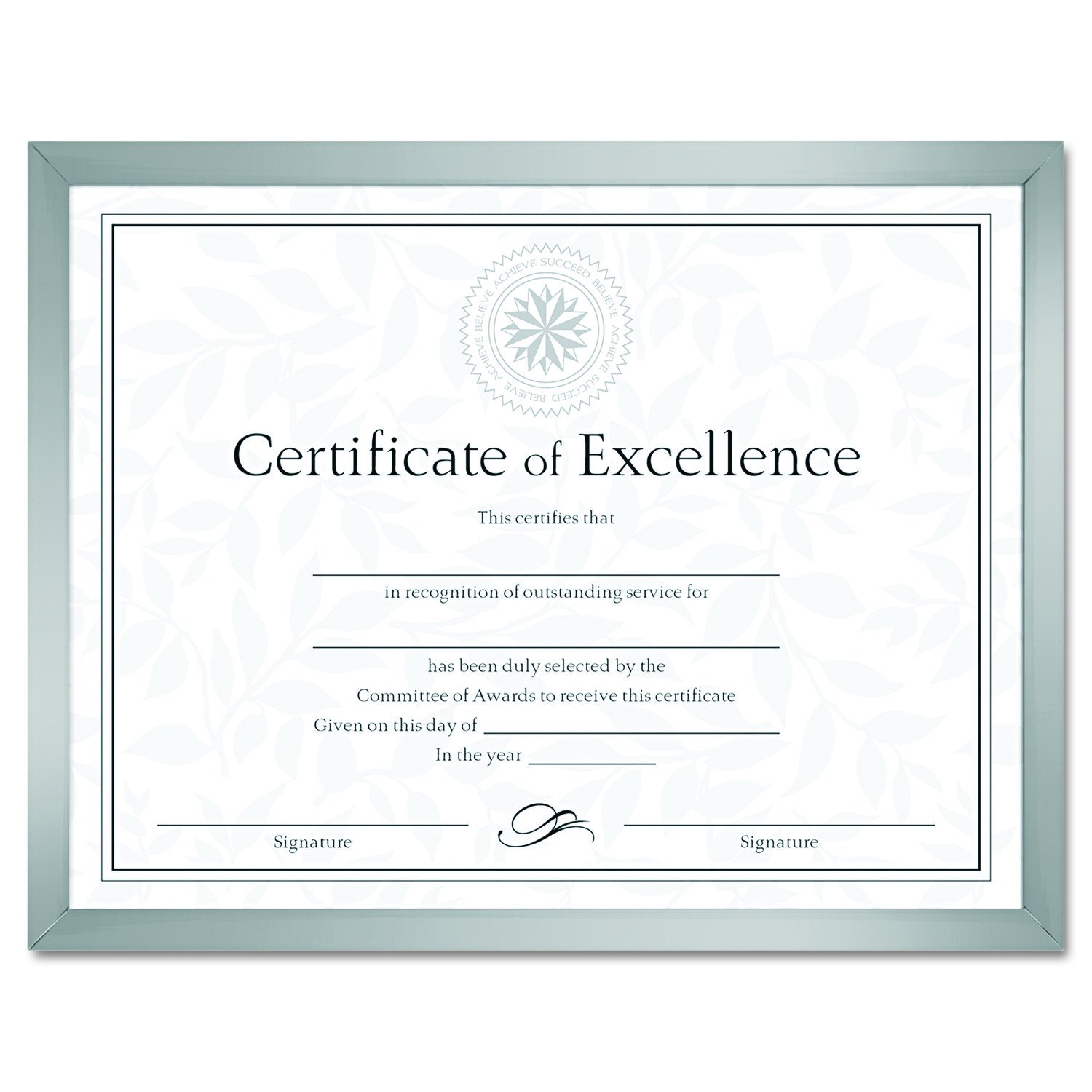DAX N17002N Value U-Channel Document Frame with Certificates, 8-1/2 x 11 Inches, Silver DOBA-DAXN17002N