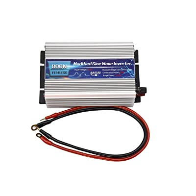 Power Inverter 800W with Dual sockets Output and USB5V 2000mA Input DC12V or 24V, Output AC110V 60Hz (12V): Car Electronics
