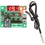 RioRand 12V DC Digital Cooling/Heating Thermostat Temp Control -50-110 °c Temperature Controller 10A Relay With Waterproof Sensor Probe