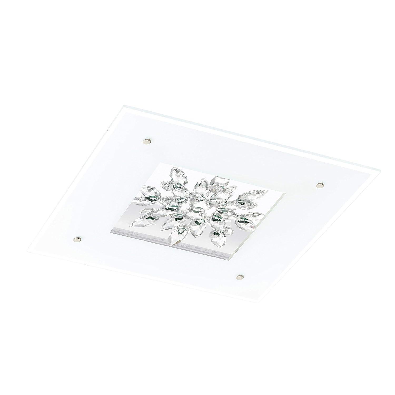 EGLO Led-Deckenleuchte Modell Benalua 24W, weiß klar kristall 93574 E