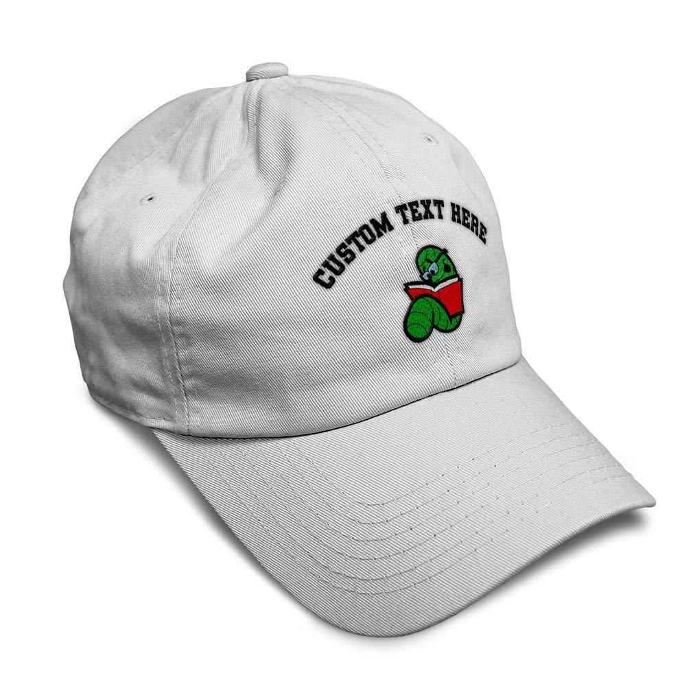 Custom Soft Baseball Cap Bookworm Embroidery Dad Hats for Men /& Women