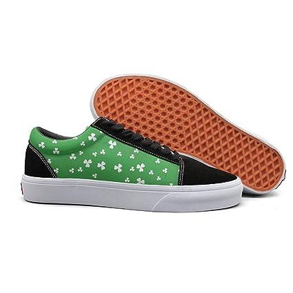 292d6b417054d Amazon.com: Armsttm Women Skate Shoes St Patrick's Day Clover ...