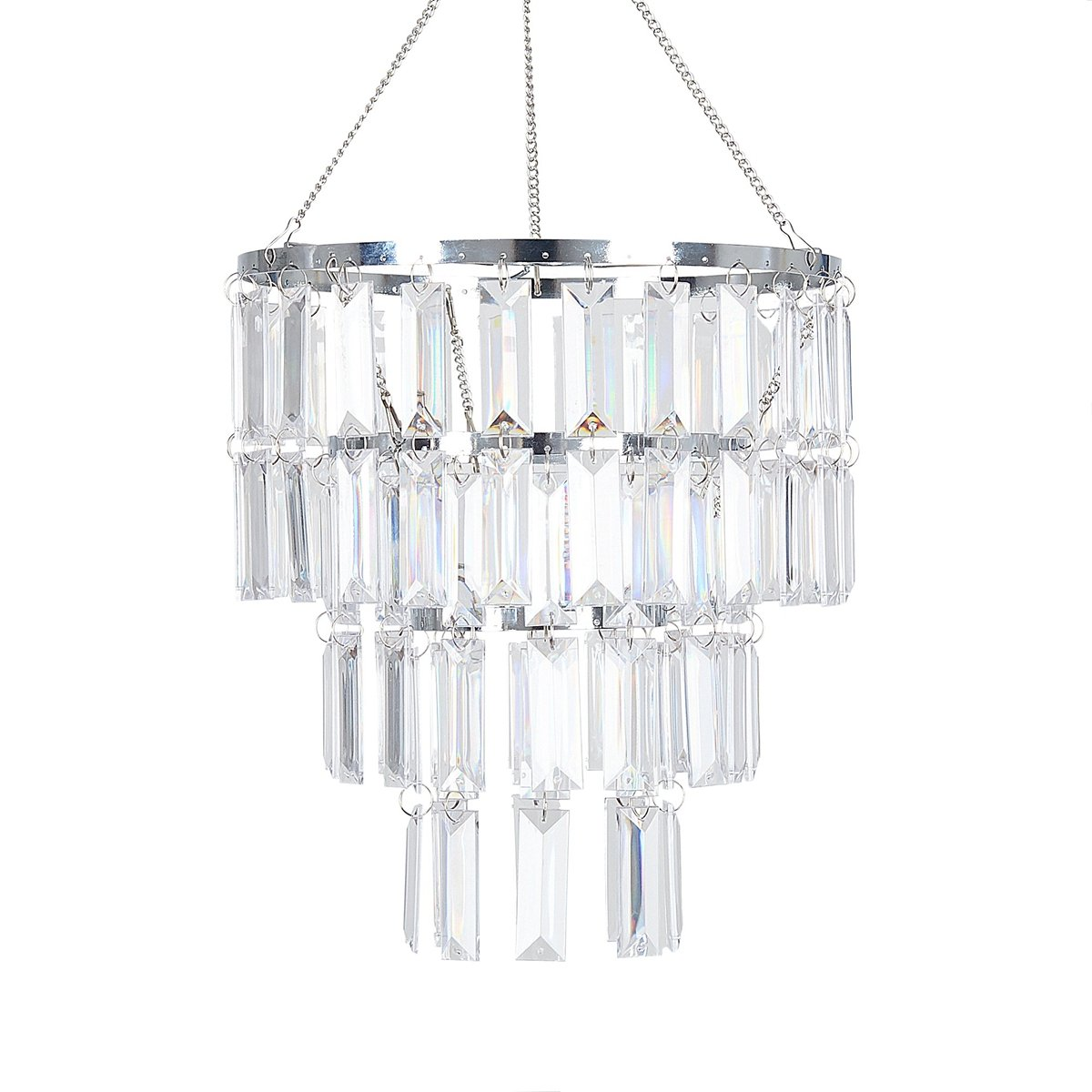 "FlavorThings Faux Crystal Lampshade-Clear Rectangle Acrylic Pendant Light Lamp Shade,10.25"" Diam 11.5"" Tall,Great idea for Wedding Chandeliers Centerpieces Decoration and Any Event Party Home Decor"