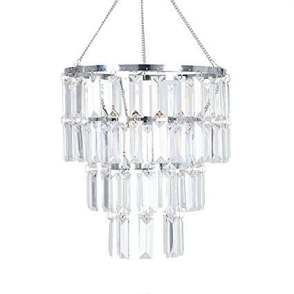 Flavorthings faux crystal lampshade clear rectangle acrylic pendant flavorthings faux crystal lampshade clear rectangle acrylic pendant light lamp shade1025quot diam aloadofball Image collections