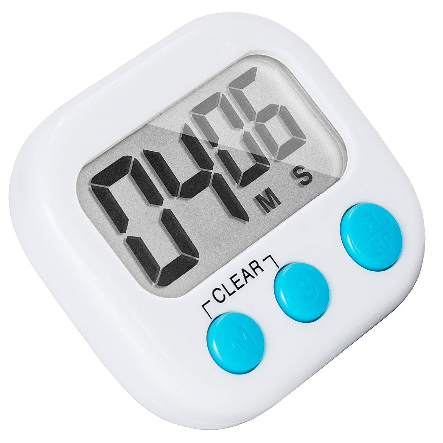 6 Pack Small Digital Kitchen Timer Magnetic Back And ON/OFF Switch,Minute Second Count Up Countdown by LinkDm (Image #2)