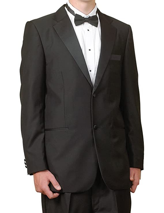 New Mens 2 Button Black Tuxedo Suit - Includes Jacket and Pants at ...