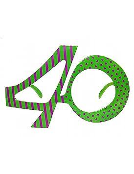 Partydeco Gafas Forma de número 40
