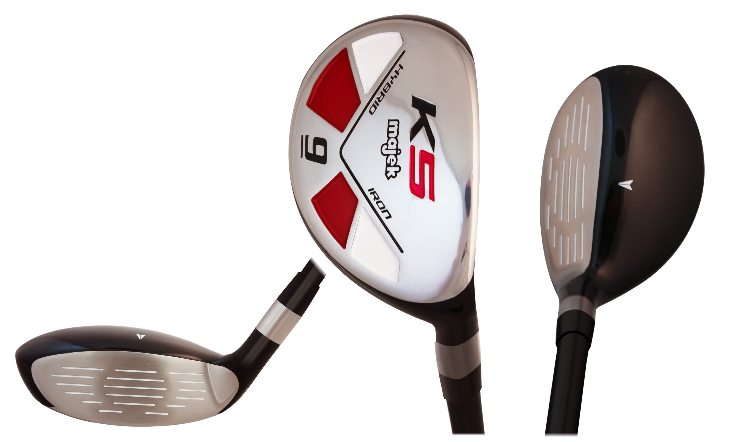 Majek Golf Senior Lady #9 Hybrid Lady Flex Right Handed New Utility L Flex Club by Majek Golf