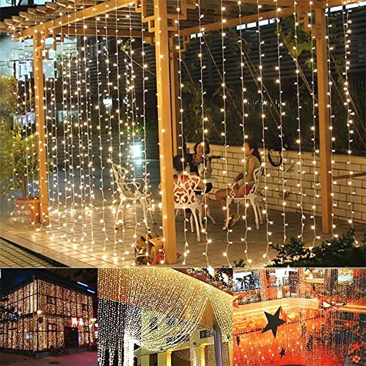 Amazon Com Home Lighting 300 Led Curtain Window Lights Fairy