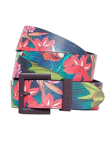 Desigual Cint_basic Flores Tropical Fly, Cintura Donna