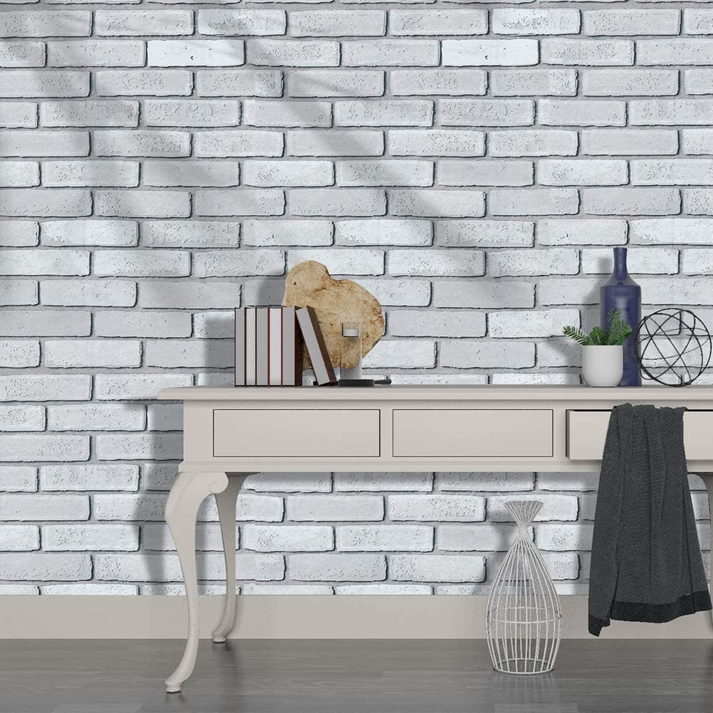 Haokhome H1096 Faux Brick Wallpaper Peel Stick Wall Murals Grey 17 7 X 19 7ft Prepasted Contact Paper Price In Uae Amazon Uae Kanbkam