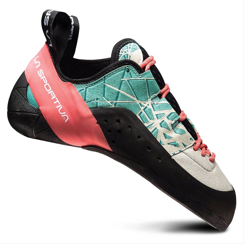 La Sportiva KATAKI Womens Climbing Shoe Mint/Coral - 39.5 by La Sportiva