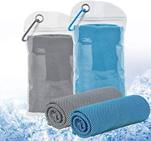 Cooling Towels Ice Towel Breathable Chilly Towels for All Exercises Sports Running Yoga Gym Workout Camping Goft Fitness Workout Indoor Outdoor (Multiple Color and Patterns)