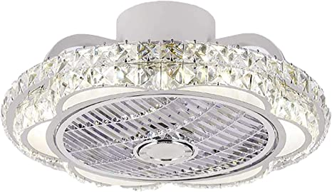 A Kristall Deckenventilator Mit Beleuchtung LED Fan Deckenleuchte Einstellbare 3 Windgeschwindigkeit Dimmbar Mit Fernbedienung Moderne F/ür Schlafzimmer Wohnzimmer Kinderzimmer Esszimmer Ventilator