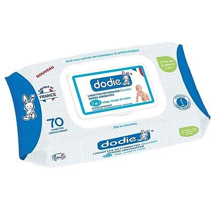 Dodie 2601300 - Toallitas limpiadoras dermo-calmantes