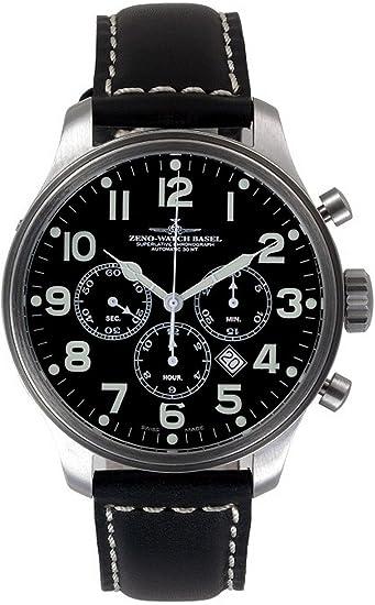 Zeno-Watch Reloj Mujer - OS Pilot Chrono Tricompax Date - 8553THD-9-