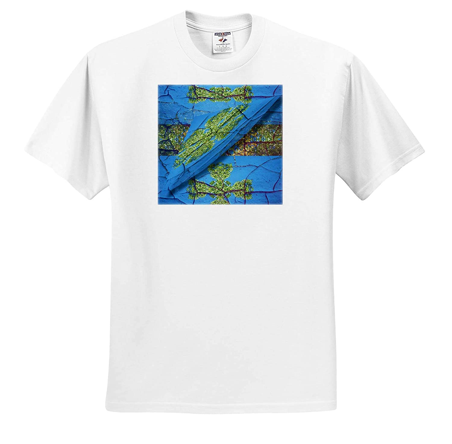 Abstract Art Blue an Abstract Piece of Art That is Almost map Like with Green and Blue T-Shirts 3dRose Jos Fauxtographee