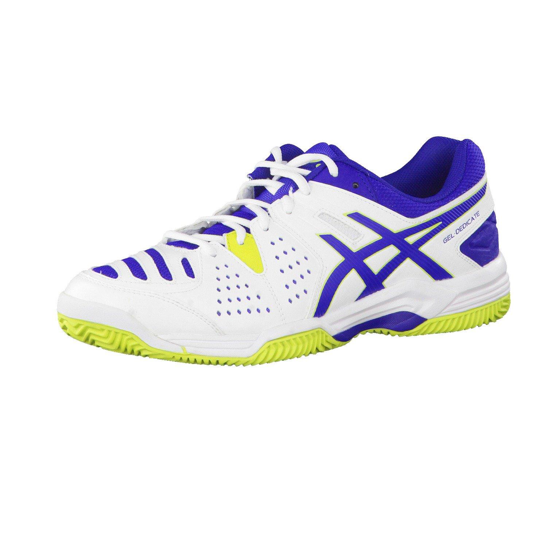Moderner Blau Weiß Asics Schuhe Tennis Gel Dedicate 4 Clay