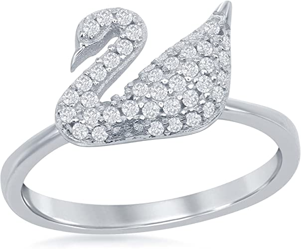 Sterling Silver .925 Women/'s Criss Cross X Pave Set CZ Fashion Ring Sizes 5-11