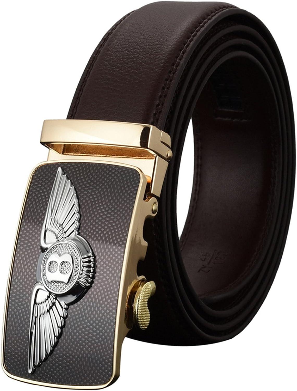 Meetloveyou Automatic Buckle Leather luxury Designer Male Belts For men Business Alloy buckle Men belt
