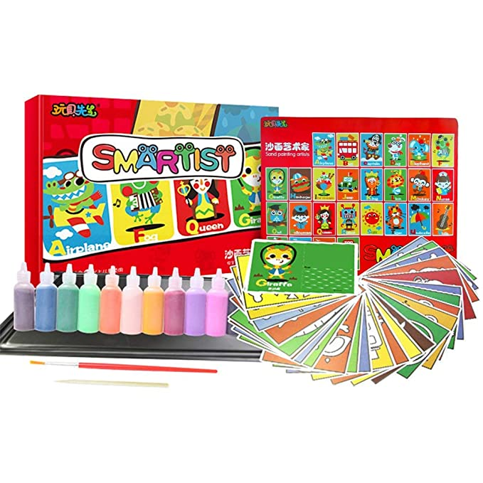 Amazon.com: Rainmae Kit de arte de arena, 26 paquetes de ...