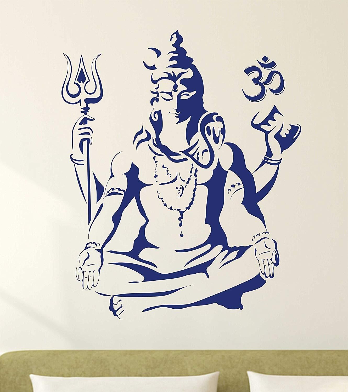 Buy lord shiva wall decal jai mahakal wall sticker jai shiv shankar wall sticker online at low prices in india amazon in