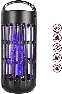 Defender Pro Mosquito Killer Electronic Insect Bug Zapper UV Light Kill Flying Pests Gnat Trap Catcher Attractant Lamp 800V Grid for Indoor Home. Black