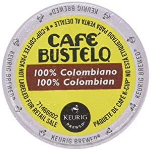 Keurig Cafe Bustelo Coffee 100% Colombian K-Cups Cuban Colombiano