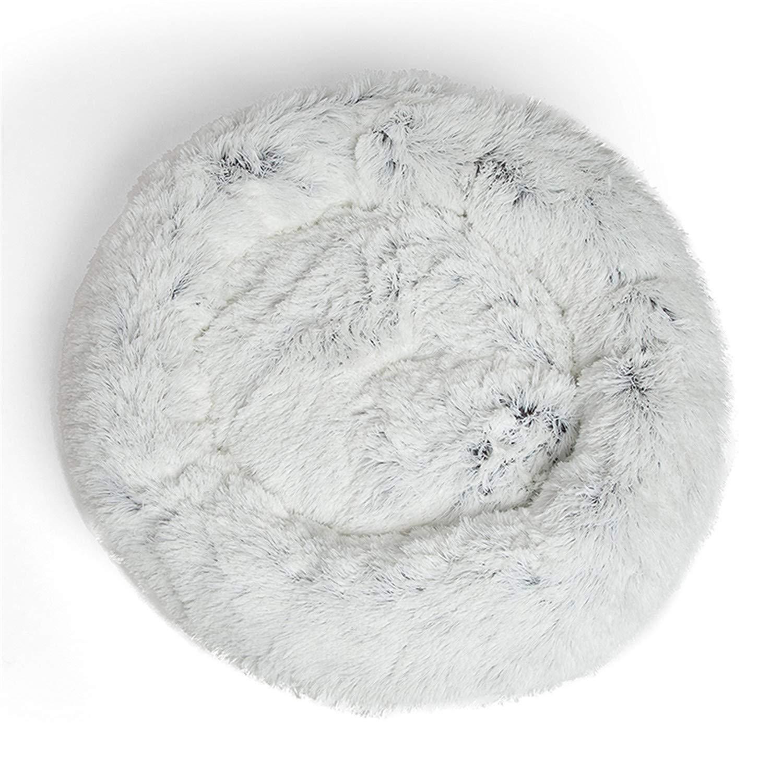 Laughingcv Warm Fleece Dog Bed 6 Tamaños Cojín de Lounger para Mascotas Redondas para Perros Pequeños, Medianos, Grandes y Gatos Perro de Invierno Perrera, ...