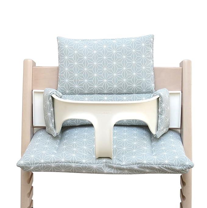 blaus Berg Baby – Colores * 41 * Cojín de asiento acolchado Juego para stokke Tripp trapp Trona (Happy Star Verde) todos los materiales Certificación ...