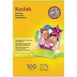 "KODAK Photo Paper Gloss 4""x6"", 100 count, 48lb-180g/m2 weight, 6.5 mil thickness (41160 - 1743327)"