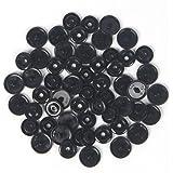 100 Glossy Black (B5) Round KAM Plastic Resin Snaps Craft Baby Bib Cloth Diaper