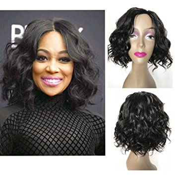 Amazon Com Short Wavy Bob Human Hair Wigs For Black Women 12inch