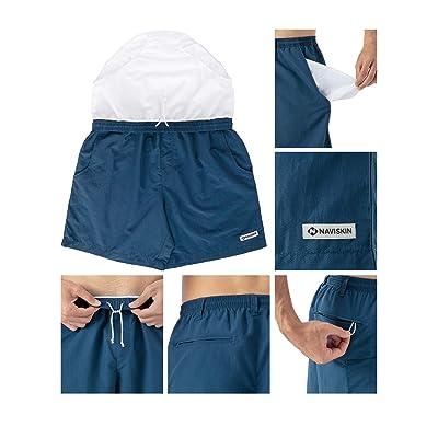 Sun Protection Shorts Outdoor Recreation Hiking Fishing Swim Board Quick Drying Multi Pockets Naviskin Mens 6 UPF 50