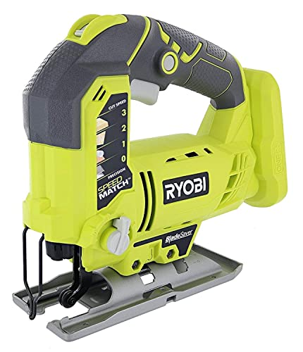 Ryobi 18 Volt Cordless Lithium Variable Speed Jig Saw - P523 Bulk Packaged Tool Only Renewed