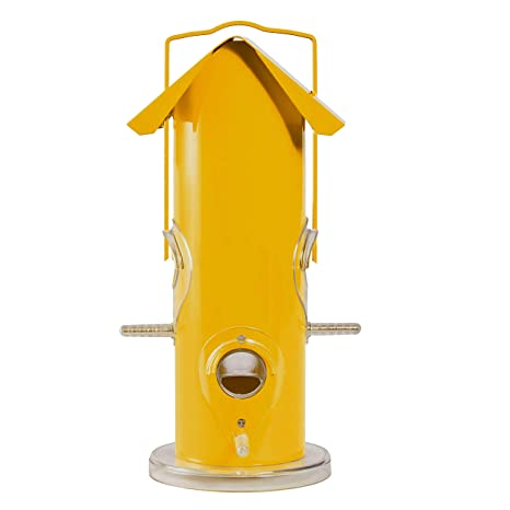 Opus [Perky-Pet] 390 Comedero para pájaros Tubo metálico – Amarillo