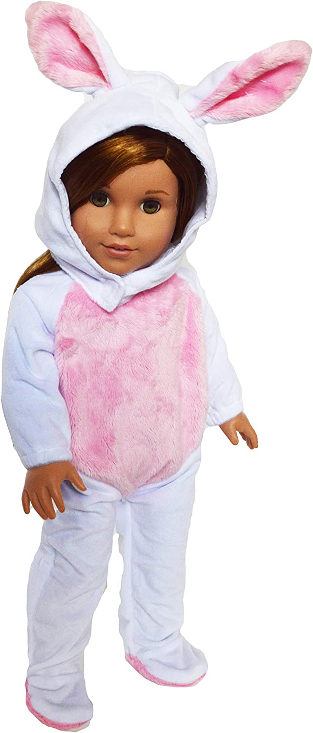 """18/"""" Doll Bunny Costume fits 18/"""" Dolls Easter Bunny Costume"""