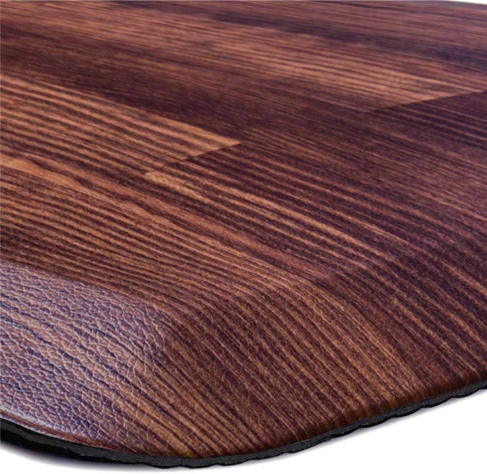 Kangaroo Original Standing Mat Kitchen Rug, Anti Fatigue Comfort Flooring, Phthalate Free, Commercial Grade Pads, Ergonomic Floor Pad, Rugs for Office Stand Up Desk, 32x20, Wood