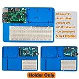 SunFounder RAB 5 in 1 Breadboard Holder Base Plate Circuit Board Screws for Arduino Uno R3 Mega 2560, Raspberry Pi 3 Model B,2 Model B and 1 Model B+ 400 800 Points Breadboard Jumper Dupont Wires