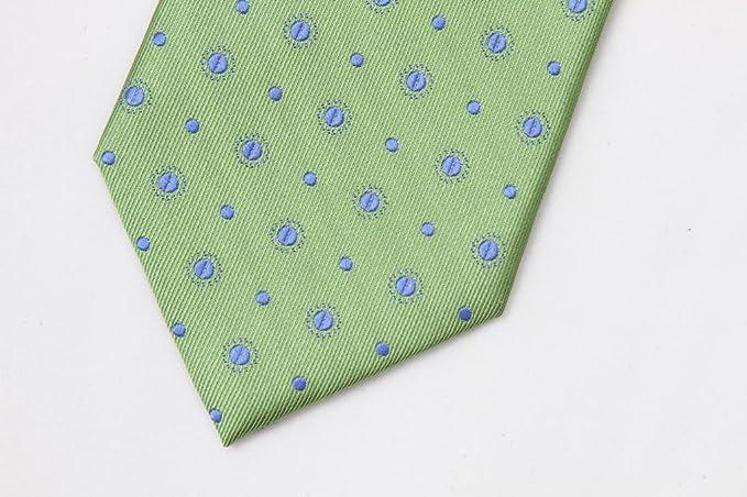 Zavetti - Corbata para hombre (tejido jacquard, seda, color verde ...