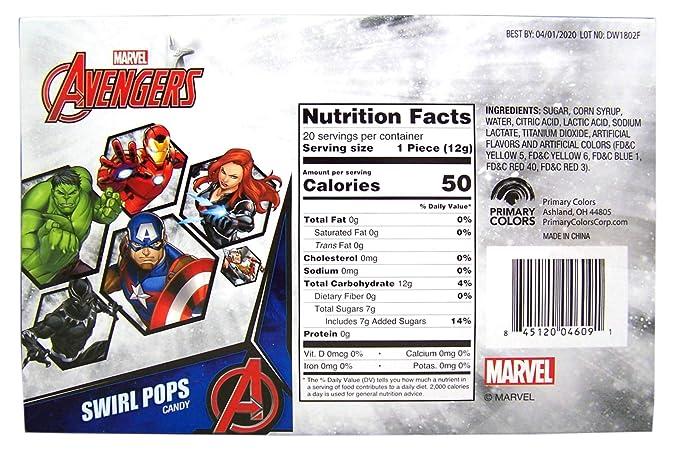 Marvel Colores primarios Caramelo Avengers Caramelo del ...