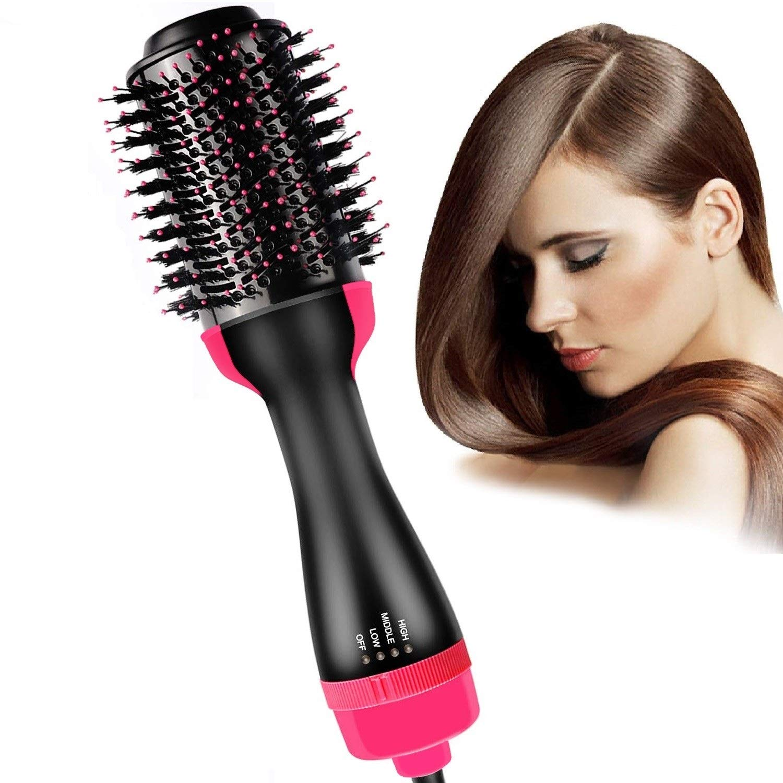 Hair Dryer Brush, Bongtai Hot Air Brush One Step Hair Dryer & Volumizer 3 in 1 Hair Dryer Brush Styler for Rotating Straightening, Curling, Salon Negative Ion Ceramic Blow Dryer Brush by Bongtai