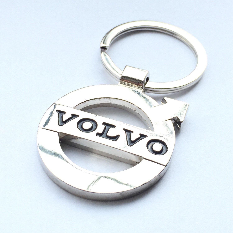 VOLVO High Quality Heavy Chrome Metal Car Logo Keyring Key Fob Keychain