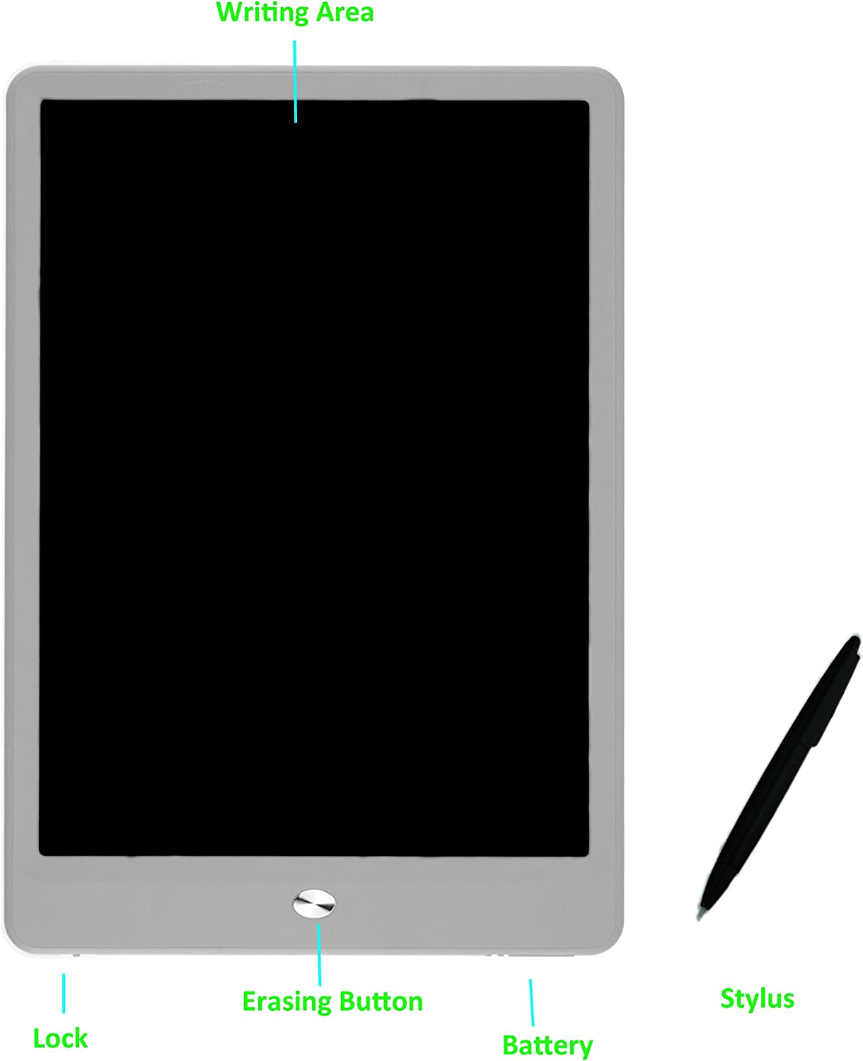 for Inkless Drawing or Paperless Sketching 8.5-inch High Contrast LCD eWriter Tablet 8.5-inch, Black