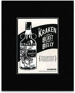 KRAKEN - Ron negro enmarañado minipóster - 29 x 21 cm: Amazon ...