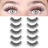 LASHVIEW False Eyelashes,Demi Wispies lashes,Mink Eyelashes, 3D Natural Layered Effect,Handmade Lashes,Comfortable and…