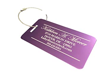 amazon com personalized luggage tags gifts with engraved design