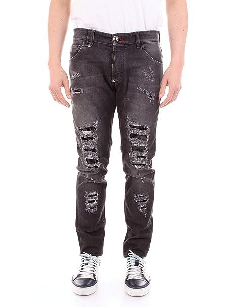 93b968b0a0 Philipp Plein Jeans Slim Battle Ship 34: Amazon.co.uk: Clothing