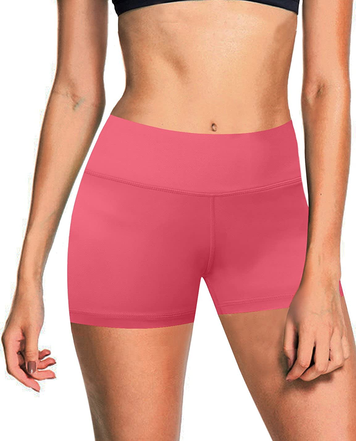 pinkcoral(4  Inner Pocket) BUBBLELIME 2.5   4  Inseam Out Pocket Yoga Shorts Running Shorts Active