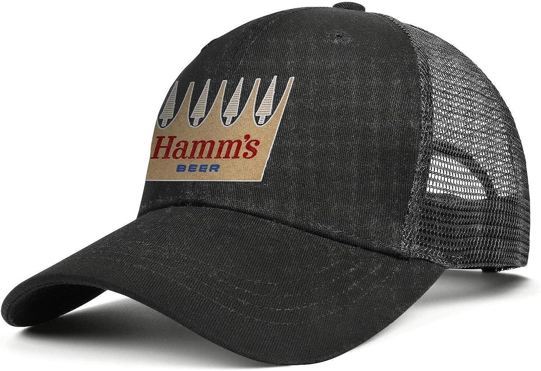 chenhou Unisex Hamms Logo Hat Adjustable Fitted Dad Baseball Cap Trucker Hat Cowboy Hat